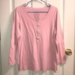 Old navy pink long sleeve t shirt top
